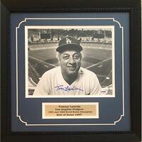 Tommy Lasorda Autographed Los Angeles Dodgers 8x10 Baseball Framed Photo PSA DNA