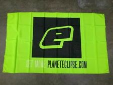 New Planet Eclipse Logo Banner Cloth Neon Green And Black
