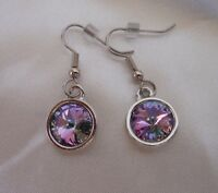 HYPOALLERGENIC Dangle Earrings Lead and Nickel Safe  Vitrail Light Crystal