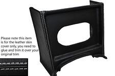 Punto Blanco Consola Parrilla Radio Envolvente De Cuero Skin Tapa se ajusta Mg Mgb temprana
