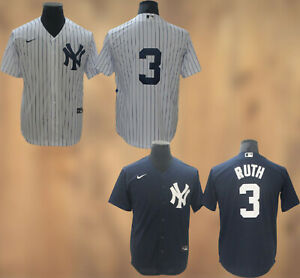 New York Yankees #3 Babe Ruth Cool Base Men's Stitched Jersey Free Shipping