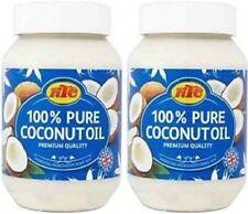 KTC 100% puro aceite de coco, cabello, piel, Cocina, Hidratante comestibles, 2 X 500ml