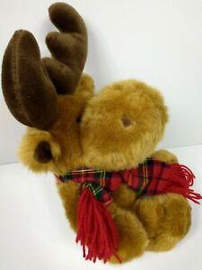 "Dr. Elmo Grandma got run over by a reindeer Singing Moose Plush DanDee 16"" X-Mas"