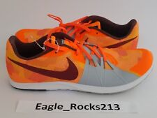 Nike Rival XC Cross Country Track Shoes Spikes Mens 12 Orange Gray 904718 806