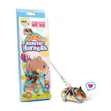 Blue Comfortable Hamster Gerbil Small Rat Mouse Pets Harness Leashes
