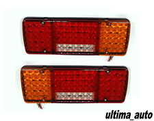 PAIR OF 24V REAR STOP 98 LED LIGHTS INDICATOR FOG LAMP TRAILER TRUCK TIPPER VAN