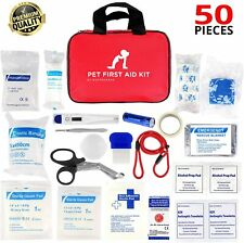 Pet First Aid Kit for Dog/Cat/Other Animal +Thermometer/Syringe/Otos cope.