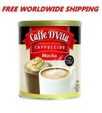 Caffe D'Vita Premium Instant Cappuccino Mocha 16 Oz FREE WORLD SHIPPING