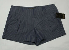 grass collection Junior Size 7 Blue Striped Pleated Casual Shorts NWT