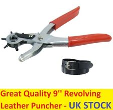 """9"""" Revolving Leather Punch and Eyelet Plier Hole Heavy Duty Belt Plastic Puncher"""