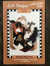 Pattern Wheat Bag Plush Felt Pony Horse Doll Heating Pad Uncut Oop L.A. Designs