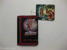 """Power Rangers Tri-Fold Wallet 4.5"""" x 3.25"""" ( RED ) BRAND NEW WITH TAGS"""
