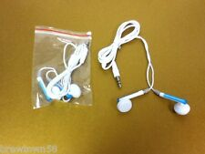 Headphones Earphones Earbuds 2 pc white I Pod I Phone cellular phone mp3