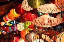 Lot of 4 pcs Vietnamese HOI AN Silk Lanterns WEDDING Party - Home Decor