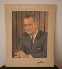 Vintage 1964 President LBJ Lyndon B Johnson DNC Democratic Convention Portrait