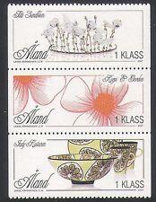Aland Islands 2007 Arts/Crafts/Ceramics/Flowers/Crown/Artists 3v set (n36159)