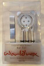 Worldnox Stainless Steel Bar Set (5 Piece Set) - NIB