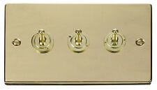 Deco 3g 2 Way 10ax Toggle Switch Victorian Polished Brass