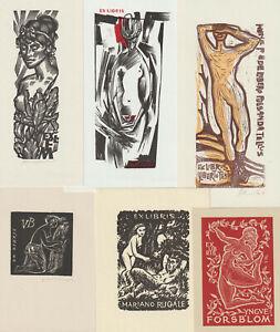 22 Ex libris erotic Exlibris by V. artist / Europe