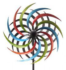 XL Windrad Bunt ArtFerro Windspiel Gartenstecker Gartendeko Metall  * H180 * Ø35