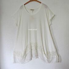 Damenblusen, - tops & -shirts aus Viskose ohne Muster in Übergröße
