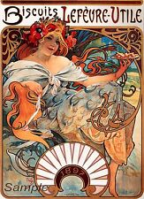 VINTAGE 1896 BISCUITS FRENCH ADVERTISING A2 POSTER PRINT