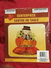 "Scarecrow 10"" Centerpiece Honeycomb Paper Thanksgiving Table Decor Fall Autumn"