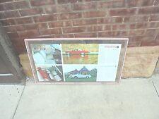 vintage framed dealer brochure in glass buick skylark wildcat metal pink frame