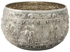 Antique Burmese Silver Thabeik Bowl Circa 1880 Height 17.3cm 1728g