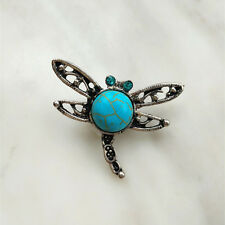 Fashion Jewelry Turquoise dragonfly Snaps Chunk Charm Button For Noosa Bracelets