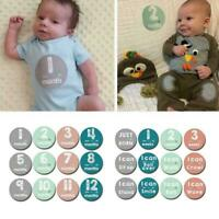 Baby Pregnant Women Monthly Photograph Sticker Month Stickers Milestone 1-1 A3N7