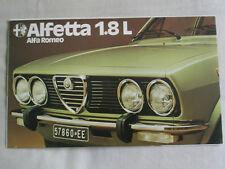 Alfa Romeo Alfetta 1.8L brochure c1977