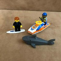 60011 Lego Complete Lego Surfer Rescue boat beach city town coast guard