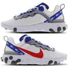 Nike React Element 55 Zapatillas para hombre Talla 6.5 - 11 Blanca-Habanero Rojo-Juego Real