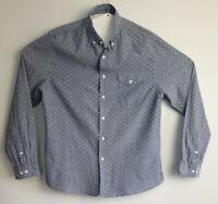Asos Men's Long Sleeve Polka Dot Blue Shirt Size XL