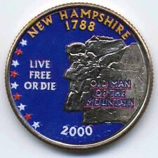 2000 NEW HAMPSHIRE COLORIZED STATE QUARTER (D)