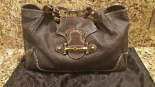 Authentic Gucci Guccissima Brown Leather  Pelham Hobo Shoulder Bag GG Logo Large