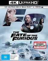 The Fate Of The Furious 4K ULTRA HD Blu-Ray : NEW