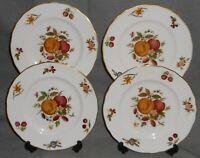 Set (4) Royal Worcester DELECTA PATTERN Salad Plates MADE IN ENGLAND