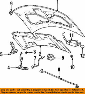 NEW Genuine 1995-03 Ford Windstar Hood Hinge Right Side OEM F58Z16796A