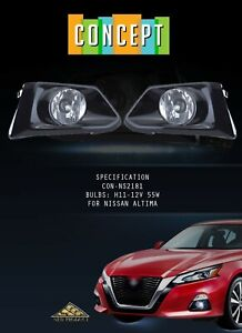 For 2019-2020 Nissan Altima Fog Lights Lamps with Assembly Set L&R Side
