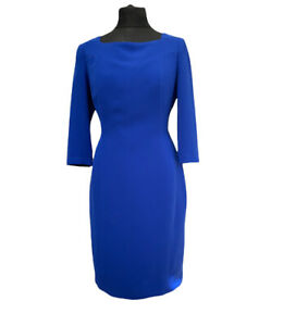 Fenn Wright Manson Cecily Dress Size 14 Blue Pencil Wedding Party RRP £129