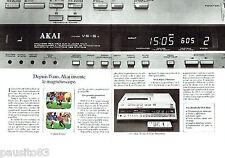 PUBLICITE ADVERTISING 016  1982  AKAI  magnétoscpoe (2p)  VS-5