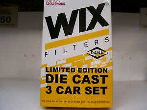 2000 1/64 #00 WIX FILTERS 3 CAR SET   RACE TRUCK / STOCK CAR / DRAGSTER  rare