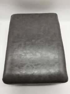 """Unbranded.  New 16"""" x 12"""" foot stool. Gray gloss."""