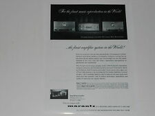 Marantz Ad 1962 Tube Ad Model 9 Amp, Model 7 Pre 1 pg, Specs, Info