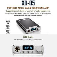 Portable xDuoo Digital LCD XD-05 Headphone Audio Amplifier AMP Support USB Port