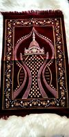 Prayer Rug Muslim Travel Mat,Islamic Prayer Rug janamaz Turkish SAJDA  Mat EID
