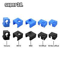 3D Printer V6/ MK8 / MK10 /MK9  volcano Silicone Sock Heater Block Cove Case