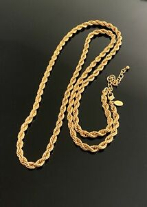 """Joan Rivers gold Chain long necklace 36"""""""